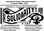 Flyer Soliparty des FrauenNachtCafés bei Möbel Olfe
